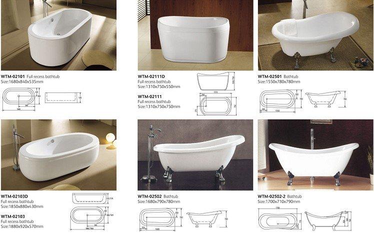 Banheira acrílica clássico wtm02501Banheiras de hidromassagemID do produto -> Tamanho Mínimo De Banheiro Com Banheira