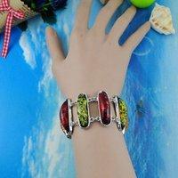 Ювелирное изделие Fashion Bracelet Artificial Amber Charms Glasses Chain Bracelets For Girl/women Suit Spring Summer YB10