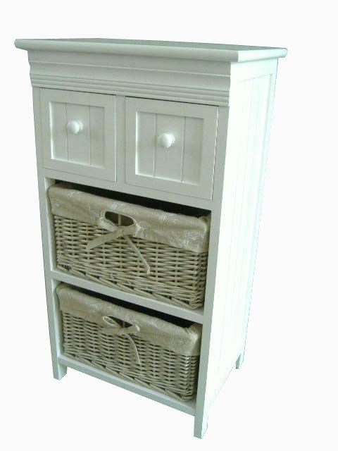 Coffret en bois avec de paniers meubles de maison rotin - Meuble avec tiroir en osier ...