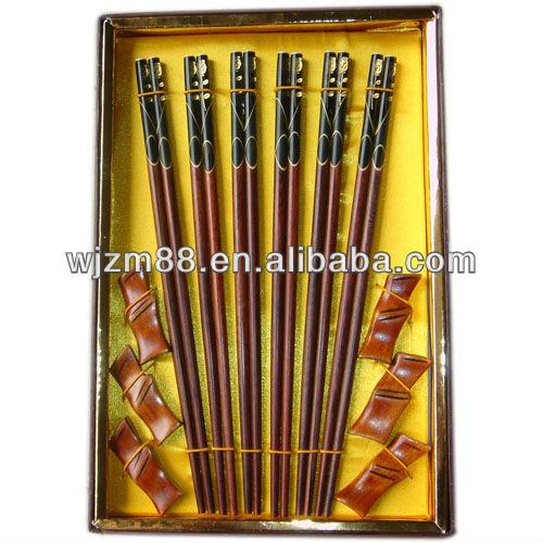 Wood craft chopsticks set
