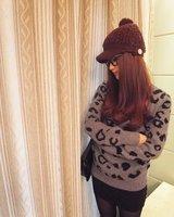 Женские толстовки и Кофты 2012 Paragraph winter Japanese wild leopard sweater, B138