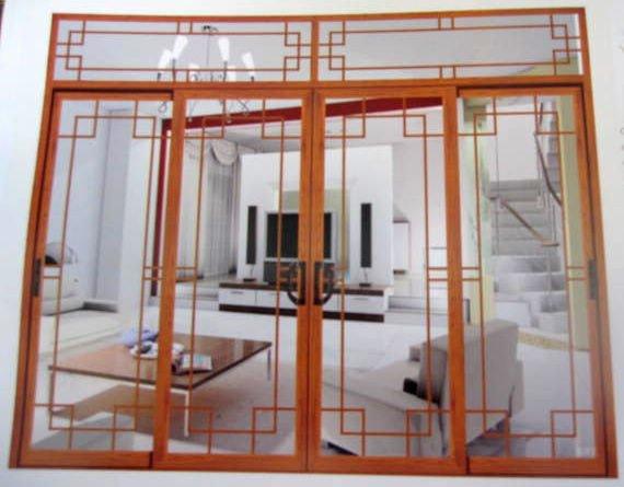 De aluminio de lujo puertas correderas puerta - Puerta corredera de aluminio ...