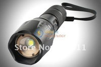 Светодиодный фонарик 1600 lumens CREE XM-L T6 LED Zoomable Adjustable Focus 5-Modes Aluminum alloy Flashlight Torch skid-proof