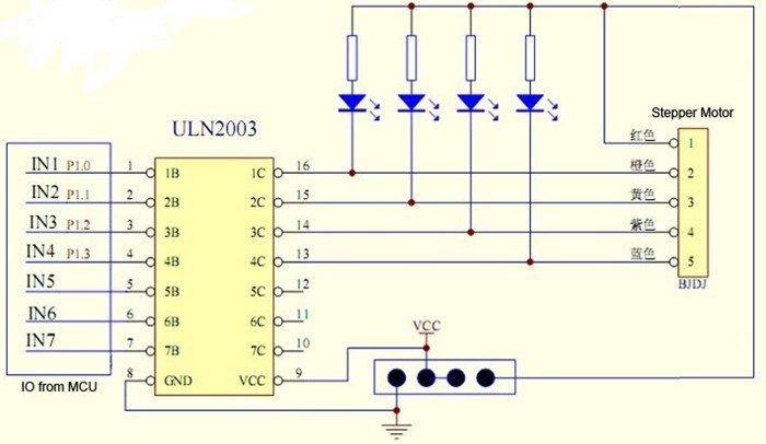 Драйвер шагового двигателя на uln2003a