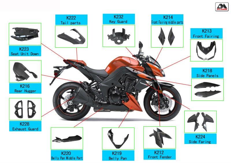 De Fibra De Carbono Moto Para Ducati Monster 696 Campanas