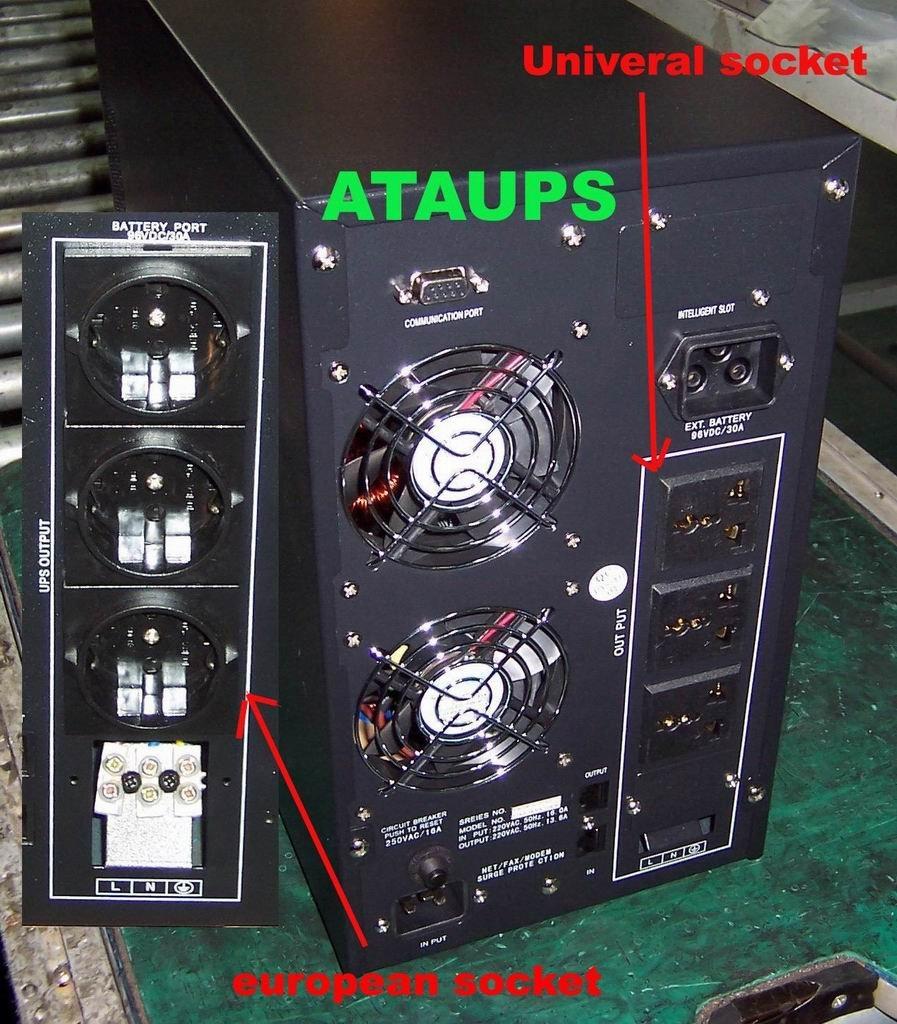 2KVA online UPS, ATA brand, SANTAK technology