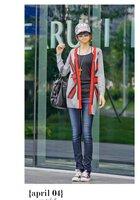 Женская куртка 039 Fashion Women's Knitted Cardigans Woolen Sweater Vouge Great Britain UK Flag Pattern Stylish Knitwear Coat Jacket