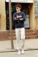 fashion comefortable 2013 tops NEW Spring new fashion leisure sports warm simple slim leisure men's pants