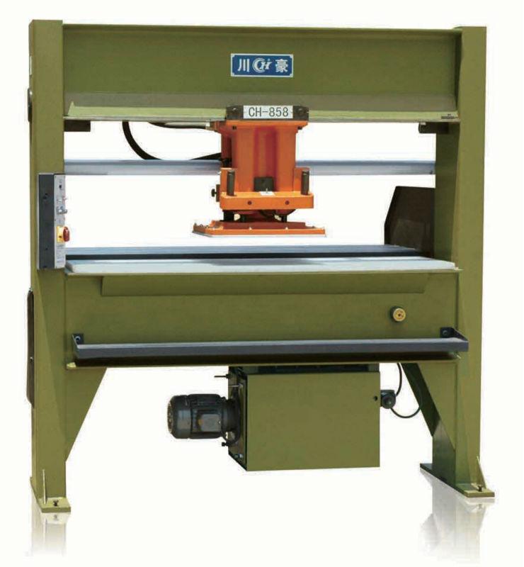 CH-858 Hydraulic 30ton traveling head shoemaking cutting machinery