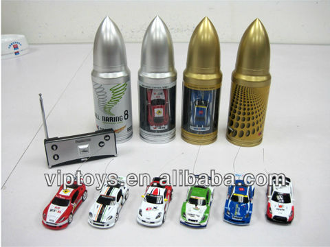 1:63 scale coke can rc mini car can 4 colors