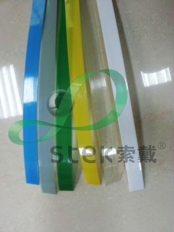 Grey,blue,yellow transparent green color PET strap (AAR, SGS)