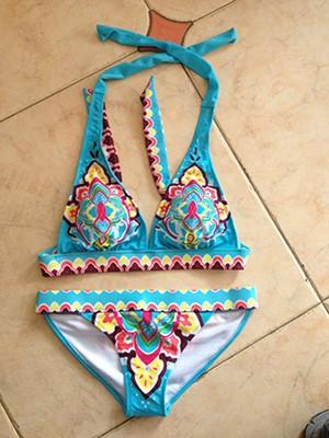 Женское бикини 13 Patterns! Victoria Print Bikinis Set VS Brand Swimwear Show Vintage Floral Bikinis Set Bandeau Swimsuit for women