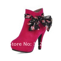 2012 New style hot sale free shipping women's fashion pu leather high heel ankle boots shoes drop shipping XL902 big size