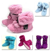 Женские тапочки Winter plush indoor floor home boots at home warm shoes cotton snow boots package with cotton drag