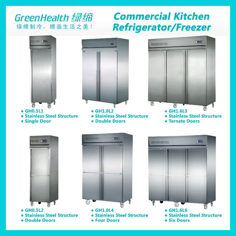 Restaurant Kitchen Equipment Refrigeration Fridge Freezer Cabinet