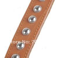 Ошейники и Поводки для собак Synthetic Leather Dog Collar Pets Neck Strap - Tawny