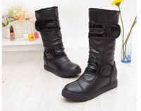 Женские ботинки autumn and winter female knight boots with Taiwan high quality PU paint tall canister