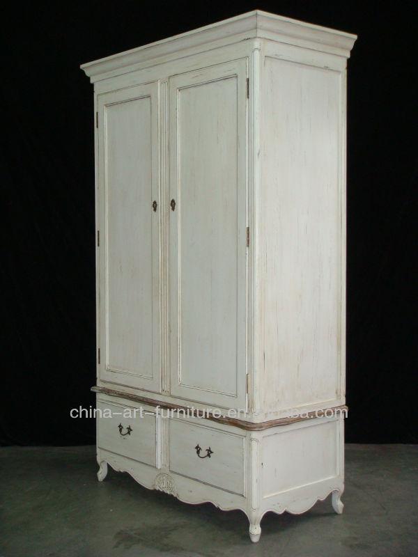 Antiguos muebles de dormitorio blanco armario de madera europea ...