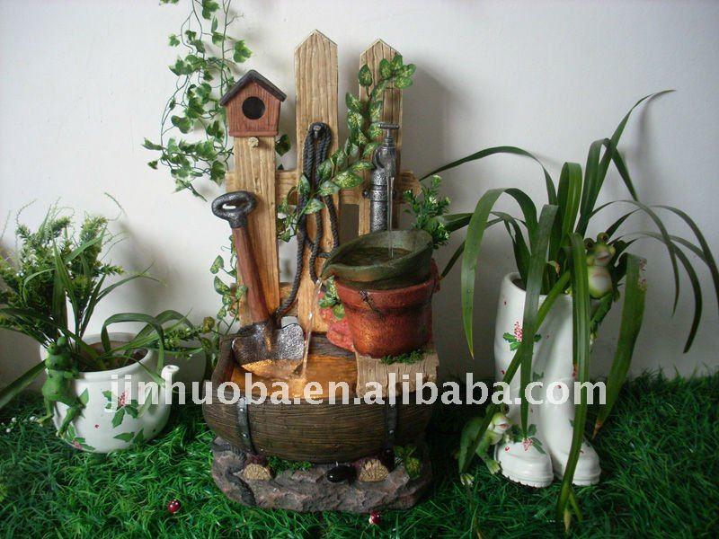 jardim fonte de águaOutros enfeites e adornos de água para jardim