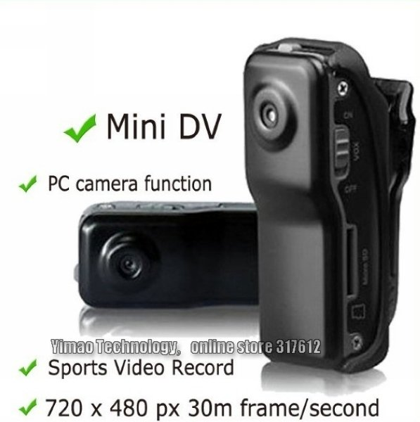 DHL Free shipping cheapest wholesale price High-Resolution Mini DV Sports Video Record Camera MD80 Camcorder