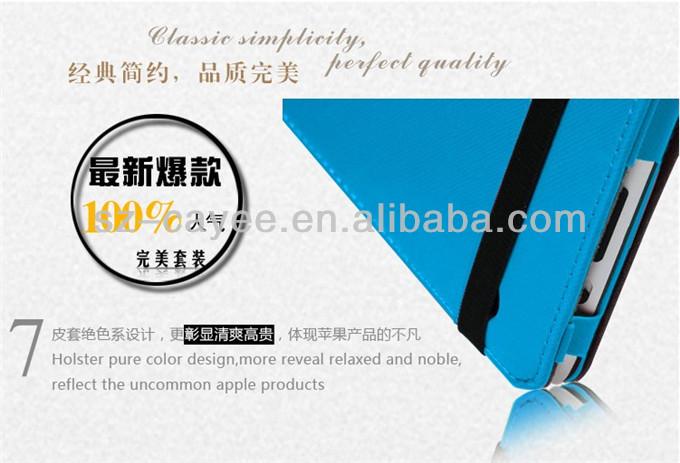 2014 latest Fashion Leather Case for Ipad Air with Sleep Wake