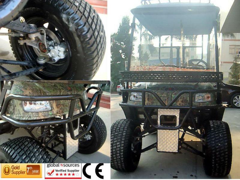 Puissant 48V5000W haut contrôleur de la marque de 4 places off road voiturette de golf avec le siège bascule arrière du TOP usin