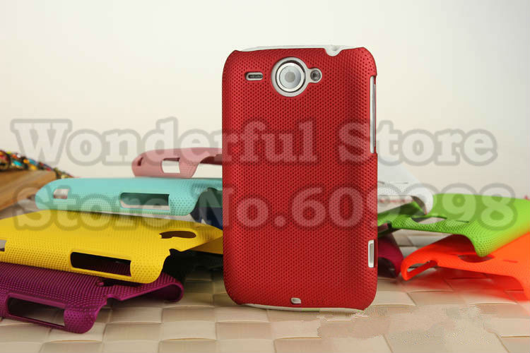 High Quality Anti-slip Rubberized Dream Mesh Hard Plastic Cover Case For HTC Wildfire G8 Free Shipping (2)