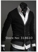 Мужской кардиган Men's Knitwear Cardigan Fake Pocket Design Slim Casual Sweater Coat M L XL Y03
