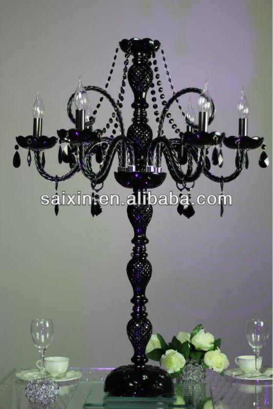 Wunderschönen schwarzen kristall glas kronleuchter tisch dekor für ...