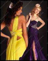 Платье на студенческий бал 2012 One Shoulder Chiffon Prom Dress Gown 6173L