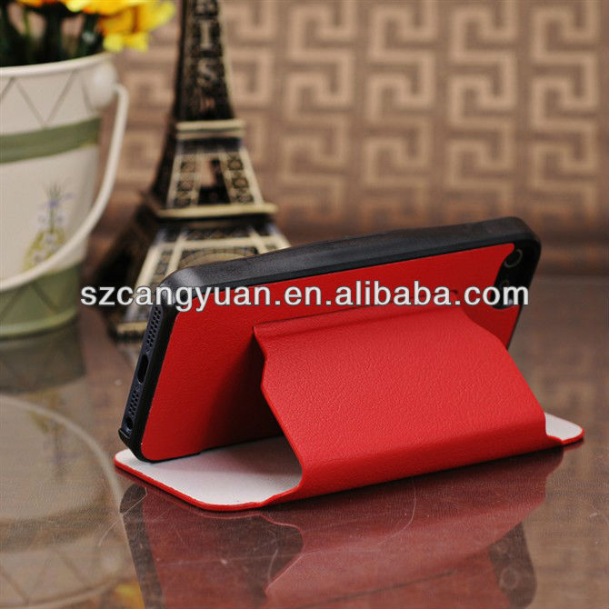 """bookstyle leather phone case wholesale for iphone"""" 5 case"""