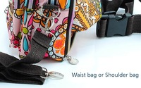 Free shipping Lesportsac lady's Waist bag/shoulder bag various patterns available Special parachute cloth waterproof