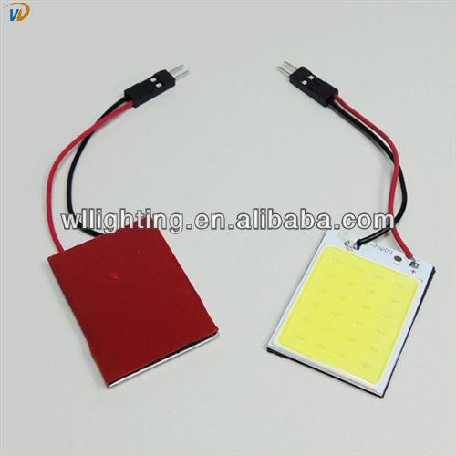 No Aluminum New LED Car Lights COB Interior White Dome Reading Lamp T10 Festoon License