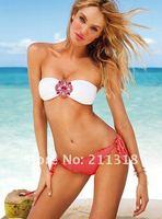 Женское бикини sexy women' swimsuit/ swimwear/ beachwear/bikini crystal shining set solid color size xs s m