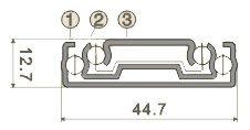 W4512P Push to Open Kitchen Ball Bearing Slide Drawer Rail