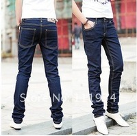 New men's jeans with high quality Straight cotton pants free shipping
