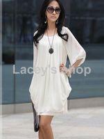 hot sell women fashion summer chiffon long dress loose size free shipping retail S107