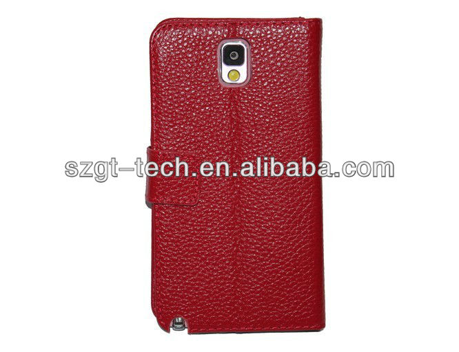 genuine cow leather case for Samsung Note3