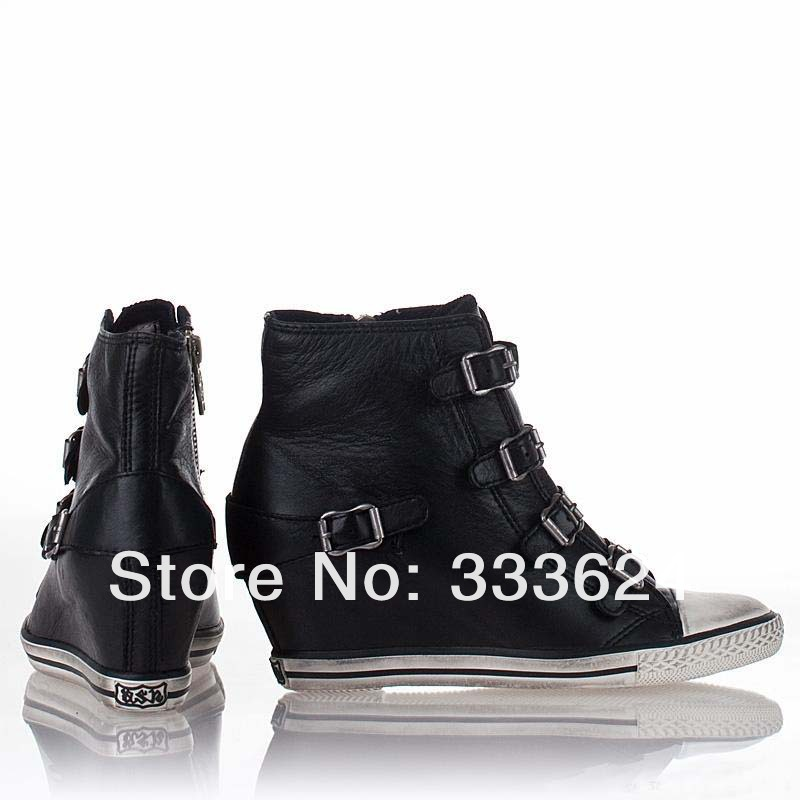 Eagle Wedge Sneaker Black Leather 312171_2.jpg