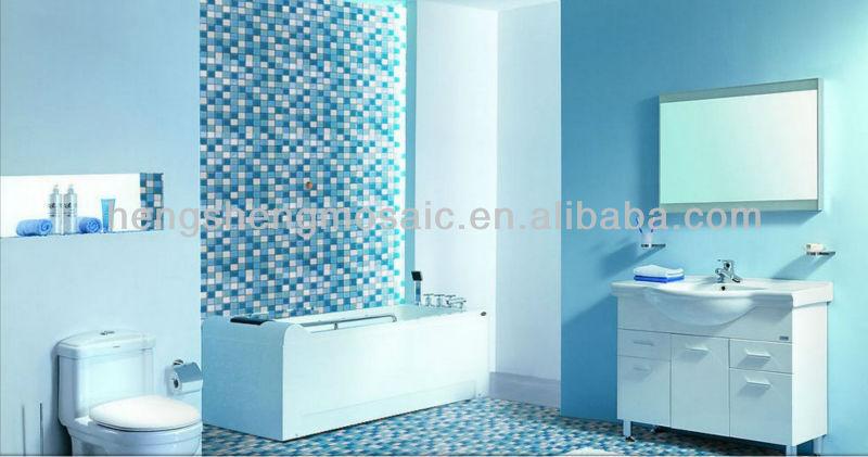 mosaico di vetro verde mattonelle della parete per stanza da bagno