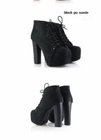 Женские ботинки lace-up ladies platform high heel ankle boots women fashion dress shoes evening pumps size 35-40 JJM456-1NF