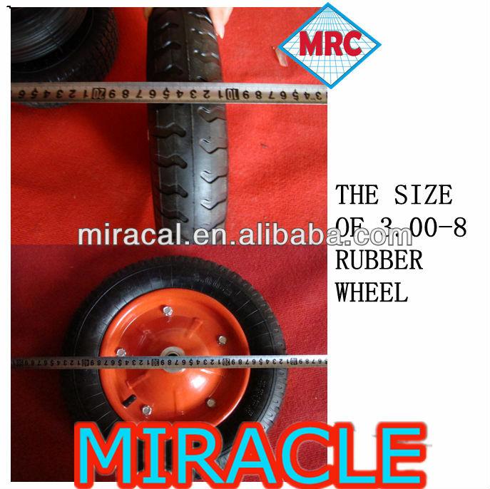Rubber wheel/Pneumatic Rubber Wheel/Rubber Wheels 3.00-8