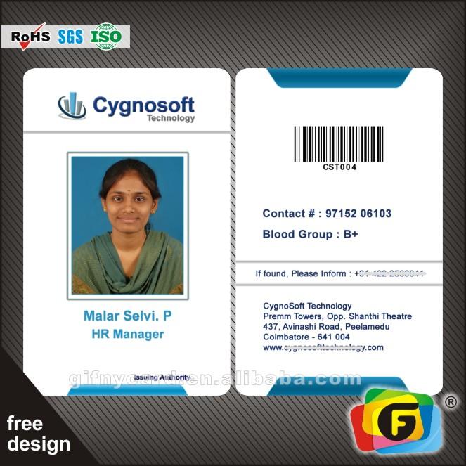Id Card Employee Id Card/office Id Card - Buy High Quality Pvc Id Card ...