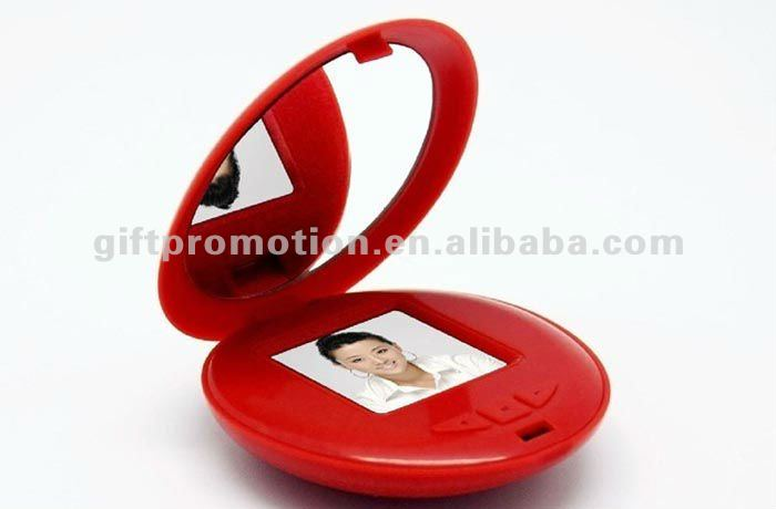 1.5 inch battery operated mirror digital photo frame