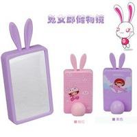 Free Shipping Rabbit Girl Up Mirror Storage Mirror