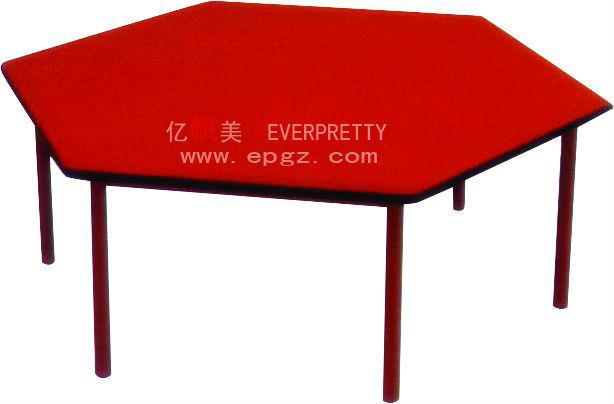 hexagonal de madera moderna mesa comedor