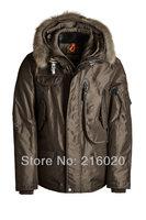 Мужской пуховик US Brand Men's Down Jacket 2013 New Real Fur Goose Clothing Warm Overcoat Outwear Waterproof Coat RIGHT HAND Parka 629