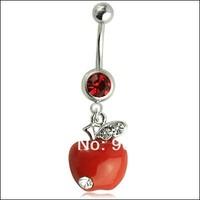 3.5g высокое качество вкусных apple живот кольцо, пирсинг украшения, пупок пупка штангой кольцо
