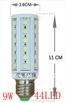 1x סופר בהירות 5W 7W 9W 12W 15W 25W 30W E27 40W E14 B22 E26 SMD730 בורג תירס אור 110V-220V זווית התאורה נורת led