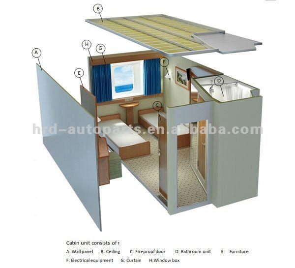 Marine modular cabin